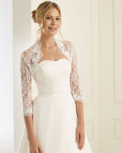Amelia Lace Wedding Bolero, Bridal Jacket